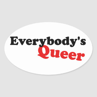 Everybody's Queer Oval Sticker