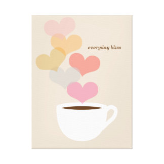 Everyday Bliss Coffee Love Art Canvas