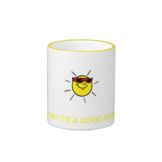everyday good morning ringer coffee mug