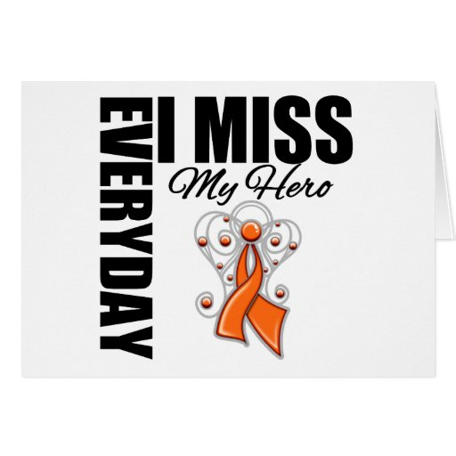 Everyday I Miss My Hero Multiple Sclerosis Cards