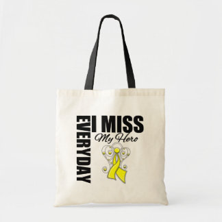 Everyday I Miss My Hero Suicide Prevention Canvas Bag