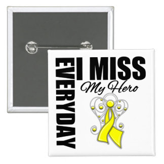 Everyday I Miss My Hero Suicide Prevention 2 Inch Square Button