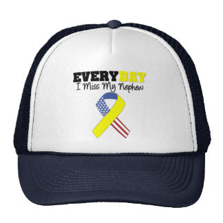 Everyday I Miss My Nephew Military Trucker Hat