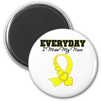 Everyday I Miss My Niece Military 2 Inch Round Magnet