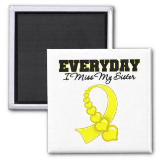 Everyday I Miss My Sister Military Square Magnet