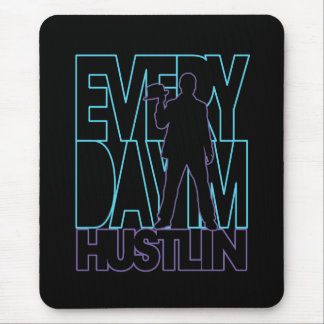 Everyday I'm Hustlin' - Blue / Purple Mouse Pad