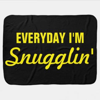 Everyday I'm Snugglin' Funny Baby Blanket