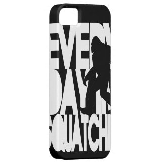 Everyday I'm Squatchin' black and white iPhone 5 Cases