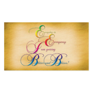 Everyday in Everyway Affirmation / Business Card