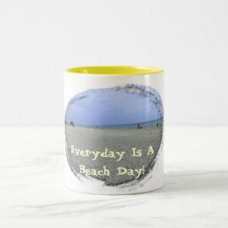 Everyday Is A Beach Day Two-Tone Coffee Mug