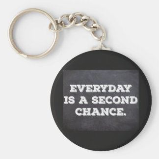Everyday is a second chance - Key ring