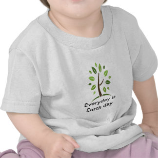 Everyday is Earth day baby Tshirts