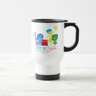 Everyday is Full of Emotions 15 Oz Stainless Steel Travel Mug