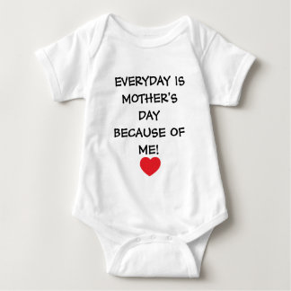 Everyday is Mother's Day Baby Jersey Bodysuit