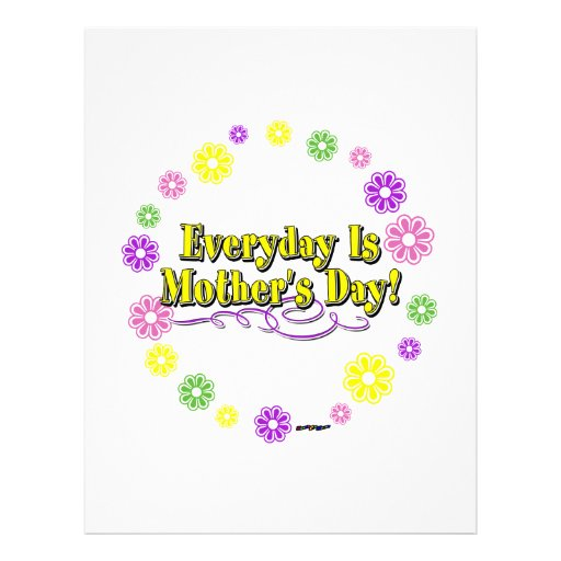 Everyday Is Mother's Day! Flower Ring Letterhead Template