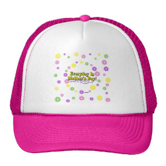 Everyday Is Mother's Day! Flowers Mesh Hats