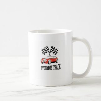 everyday track red coffee mug