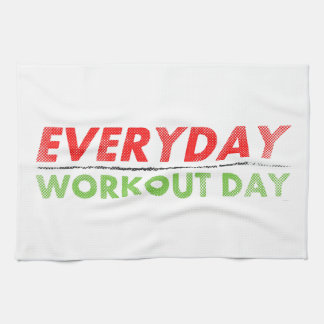 Everyday Workout Day Kitchen Towel