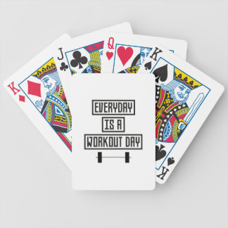 Everyday Workout Day Z3iqj Bicycle Playing Cards