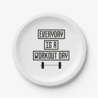 Everyday Workout Day Z3iqj Paper Plate