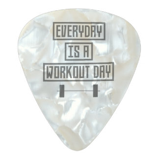 Everyday Workout Day Z3iqj Pearl Celluloid Guitar Pick