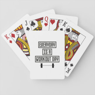 Everyday Workout Day Z3iqj Playing Cards