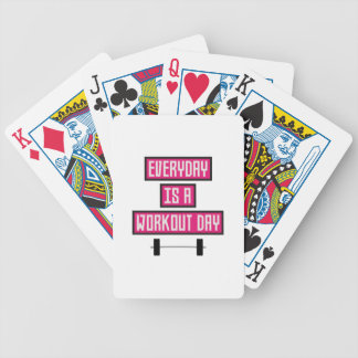 Everyday Workout Day Z52c3 Bicycle Playing Cards