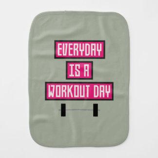 Everyday Workout Day Z52c3 Burp Cloth