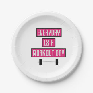 Everyday Workout Day Z52c3 Paper Plate