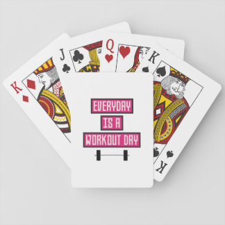 Everyday Workout Day Z52c3 Playing Cards