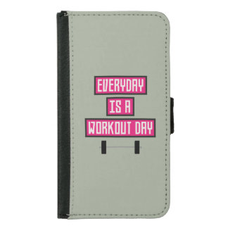 Everyday Workout Day Z52c3 Samsung Galaxy S5 Wallet Case