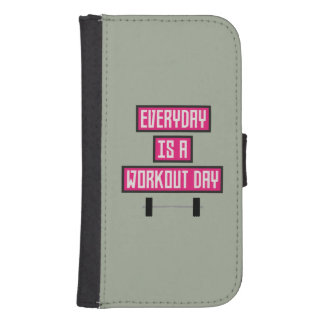Everyday Workout Day Z52c3 Samsung S4 Wallet Case