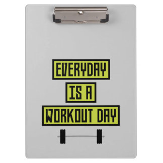 Everyday Workout Day Z81fo Clipboards