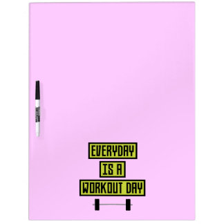 Everyday Workout Day Z81fo Dry Erase Boards