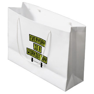 Everyday Workout Day Z81fo Large Gift Bag