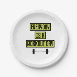 Everyday Workout Day Z81fo Paper Plate