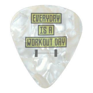 Everyday Workout Day Z81fo Pearl Celluloid Guitar Pick