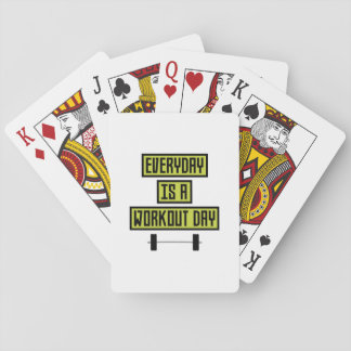 Everyday Workout Day Z81fo Playing Cards