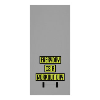 Everyday Workout Day Z81fo Rack Card