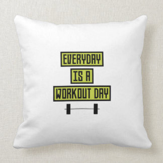 Everyday Workout Day Z81fo Throw Pillow