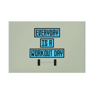 Everyday Workout Day Z852m Canvas Print