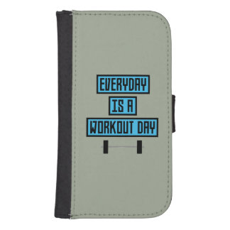 Everyday Workout Day Z852m Samsung S4 Wallet Case