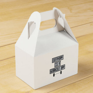 Everyday Workout Day Zge5d Favor Box