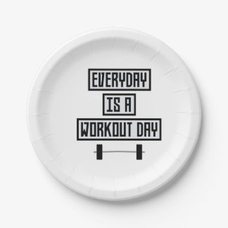 Everyday Workout Day Zge5d Paper Plate