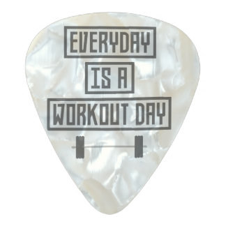 Everyday Workout Day Zge5d Pearl Celluloid Guitar Pick