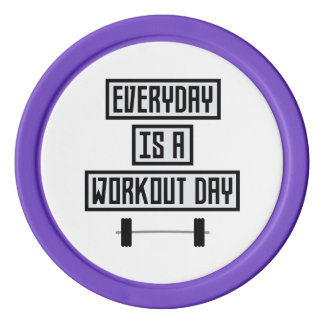 Everyday Workout Day Zge5d Poker Chips