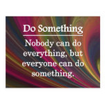 Everyone Can Do Something Postcard