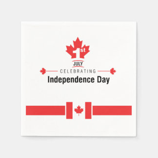 Everyone Celebrates Canada Day Party Paper Napkins