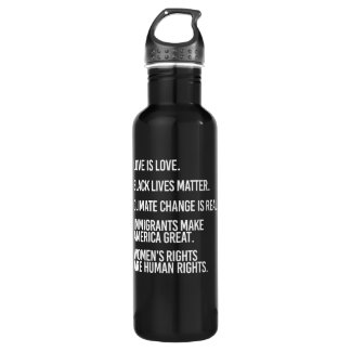 Everyone deserves human rights and climate change  710 ml water bottle