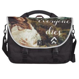 Everyone Dies Laptop Bag